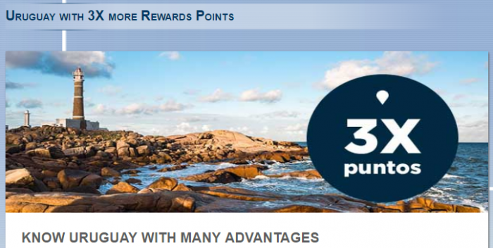Le Club AccorHotels Uruguay Triple Points May 5 - July 5 2017