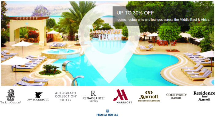 Marriott Rewards Middle East & Africa Up To 30 Percent Off Summer Sale