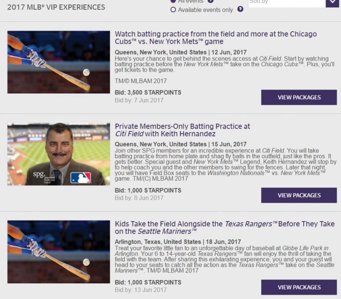 SPG MLB Moments VIP