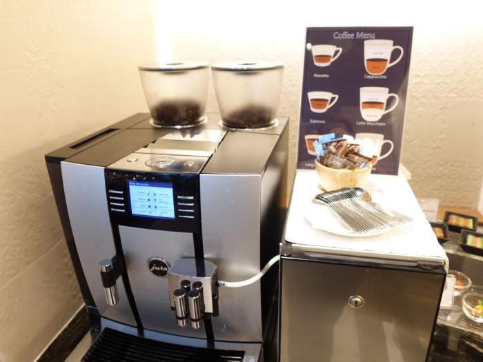 Singapore Airlines New SilverKris Lounge Suvarnabhumi Airport Coffee Machine