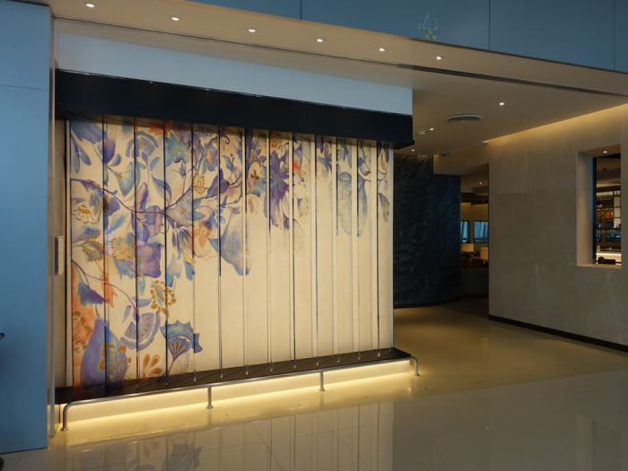Singapore Airlines New SilverKris Lounge Suvarnabhumi Airport Entrance Art