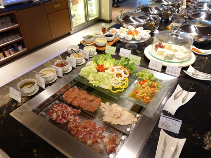 Singapore Airlines New SilverKris Lounge Suvarnabhumi Airport Salad & Cold Cuts