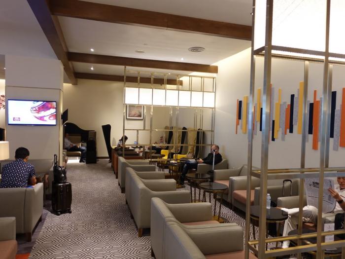 Singapore Airlines New SilverKris Lounge Suvarnabhumi Airport Sitting Area
