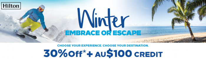Hilton Honors Australasia 30 Percent Off + 100 AUD Savings