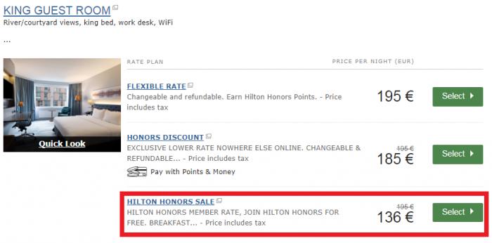 Hilton Honors UK & Europe Summer Weekends Sale For Stays June 16 - October 8, 2017 Hilton Helsinki Strand