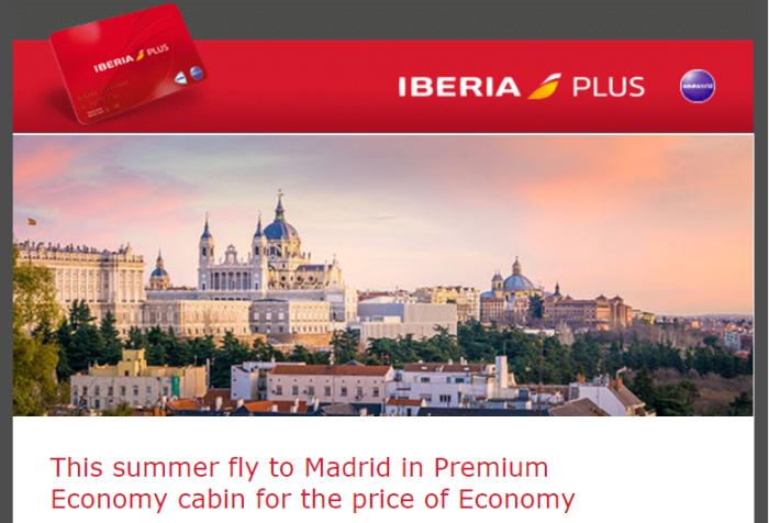 Iberia Plus Avios Premium Economy Discount