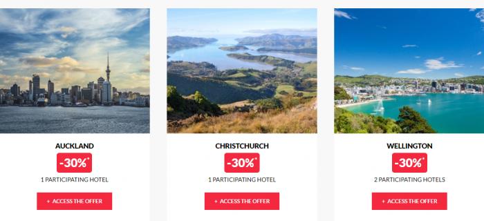 Le Le Club AccorHotels Worldwide Private Sale New Zealand 2