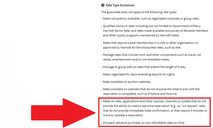 Marriott Rewards Look No Further Best Rate Guarantee Rate Type Exclusions Update June 30 2017