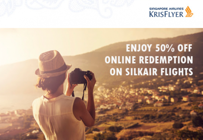 Singapore Airlines KrisFlyer 50 Percent Off SilkAir Award Flights 2017