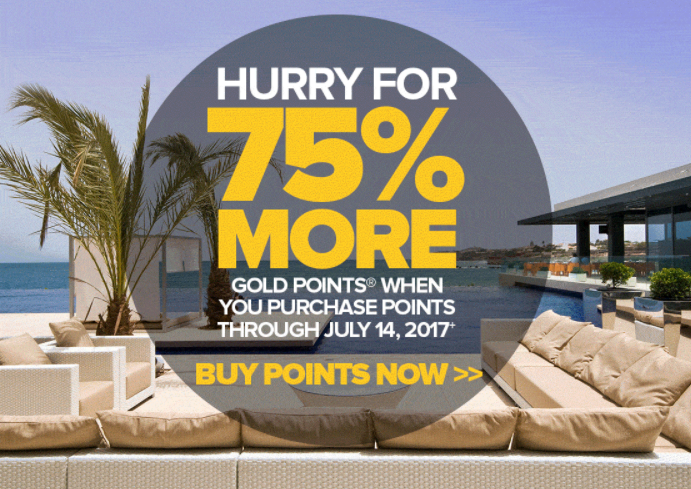 Club Carlson Buy Points July 2017 Campaign