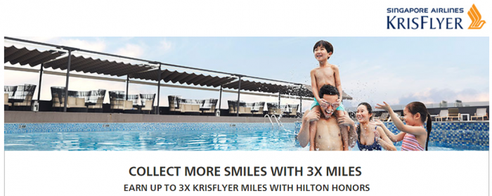 Hilton Honors Singapore Airlines Up To Triple KrisFlyer Miles July 26 - September 30 2017