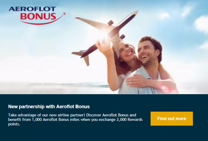 Le Club AccorHotels Aeroflot Bonus Partnership