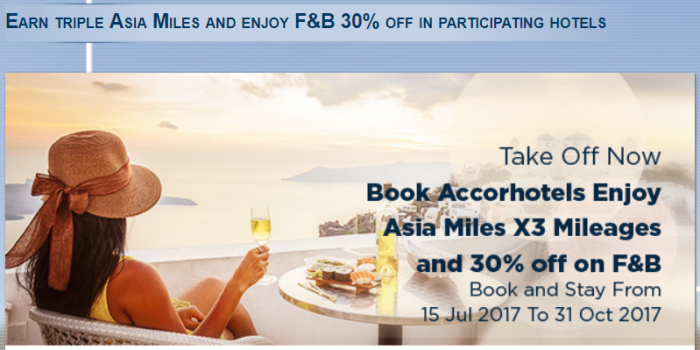 Le Club AccorHotels Cathay Pacific Triple Asia Miles July 15 - October 31 2017