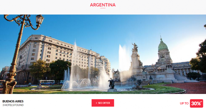 Le Club AccorHotels Worldwide Private Sale July 26 2017 Argentina 1