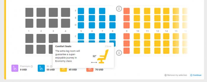 Primera Air Transatlantic EWR-CDG Seat