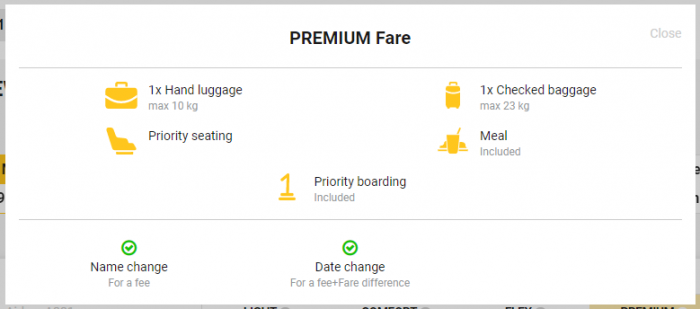 Primera Air Transatlantic Fares Premium