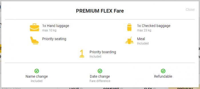 Primera Air Transatlantic Fares Premium Flex
