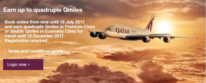 Qatar Airways Up To Quadruple Qmiles