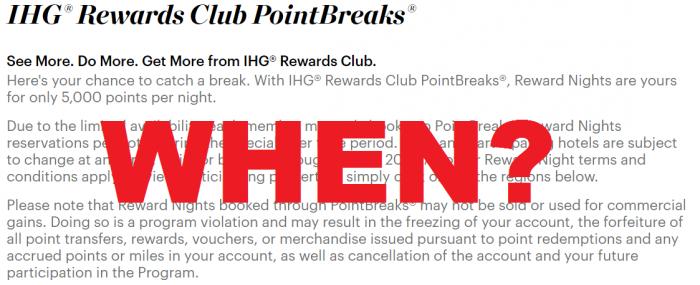 Reader Question IHG Rewards Club PointBreaks U
