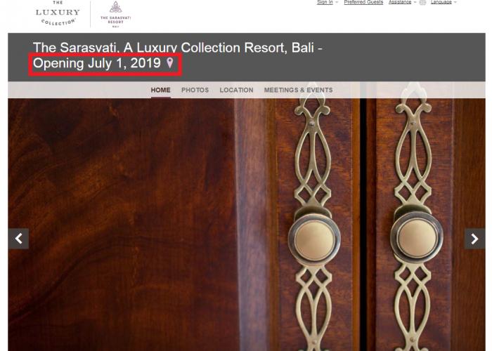 Sarasvati Luxury Collection Bali July 2019