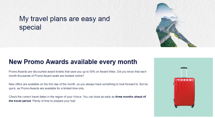 Air France-KLM Flying Blue Promo Awards August 2017