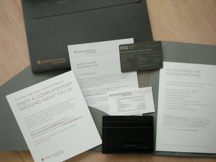 IHG Rewards Club Ambassador Package