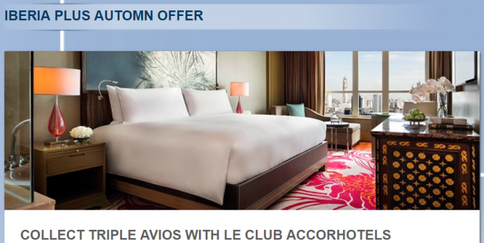Le Club AccorHotels Iberia Plus Triple Miles October 1 - December 31 2017