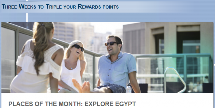 Le Club AccorHotels Triple Points Egypt July 27 - October 27 2017