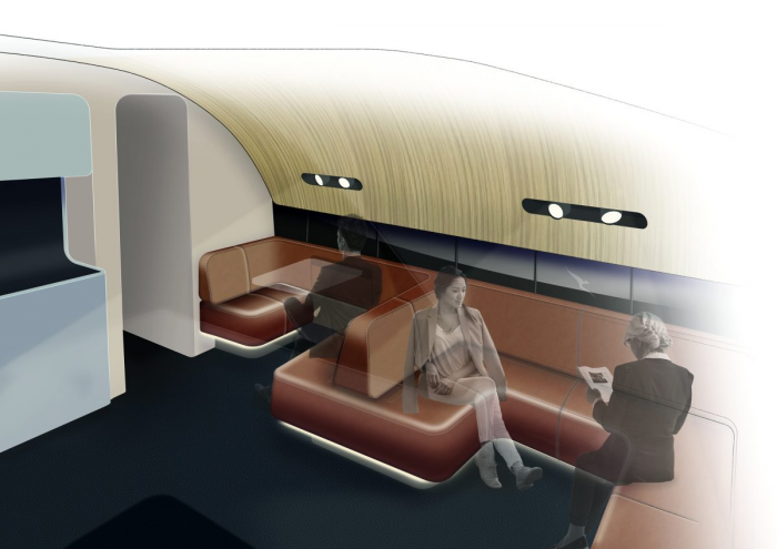 Qantas A380 Upper Deck Lounge