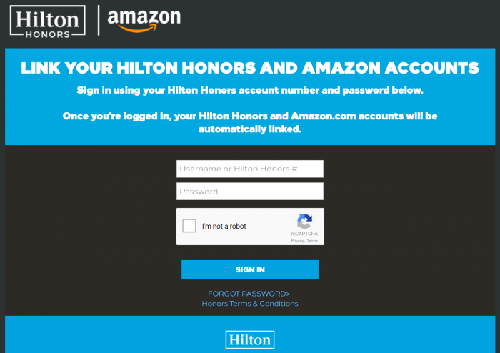 Amazon Hilton Link Hilton