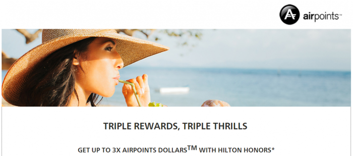 Hilton Honors Air New Zealand Up To Triple Airpoints Dollars July 12 – December 31, 2017