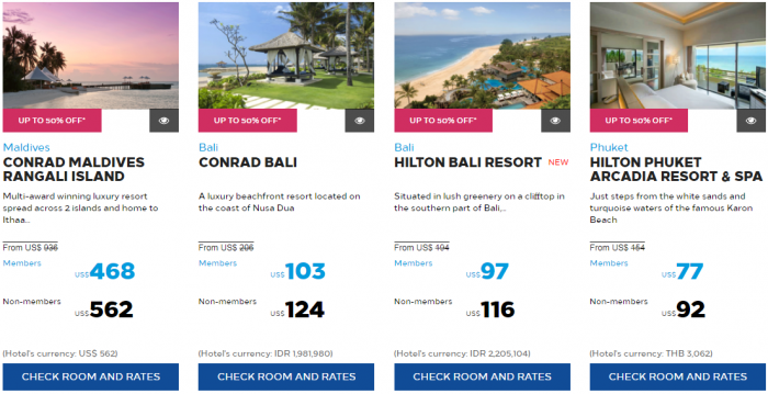Hilton Honors Southeast Asia Resorts Sale 72-Hours 50 Percent Off September 2017 1