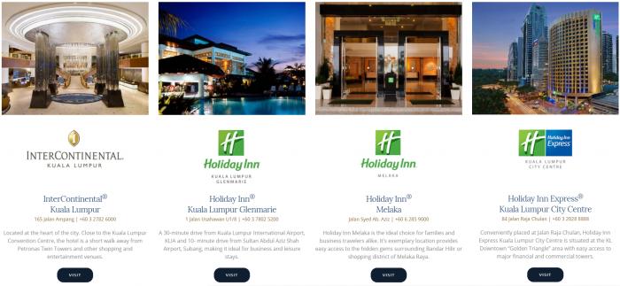 IHG Rewards Club Gourmet Collection Malaysia Hotels