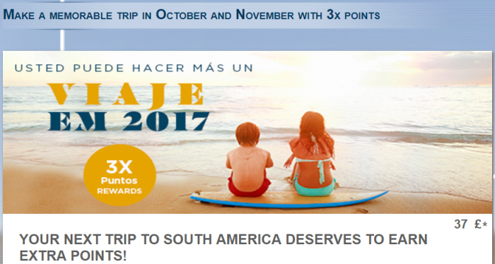 Le Club AccorHotels South America triple Points October 3 - November 30 2017