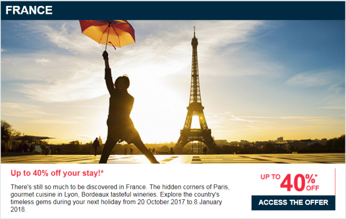 Le Club AccorHotels Up To 40 Percent Off Private Sale September 2017 France