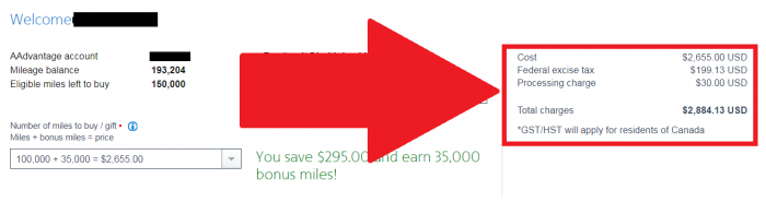 American Airlines Buy AAdvantage Miles October 2017 Campaign Price