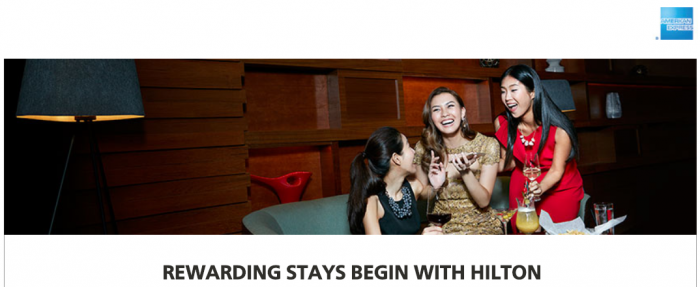 Hilton Honors American Express Hong Kong Offer September 15 - January 31 2018