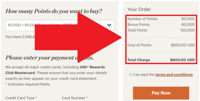 IHG Rewards Club Buy Points 100 Bonus October Flash 2017 Price