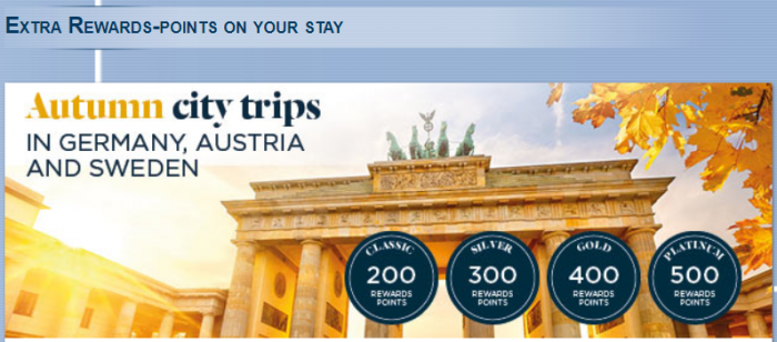 Le Club AccorHotels Germany, Austria & Sweden Bonus Points October 23 - December 23 2017