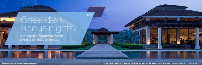 SPG Pro Double Starpoints Group Events Through March 31 2018