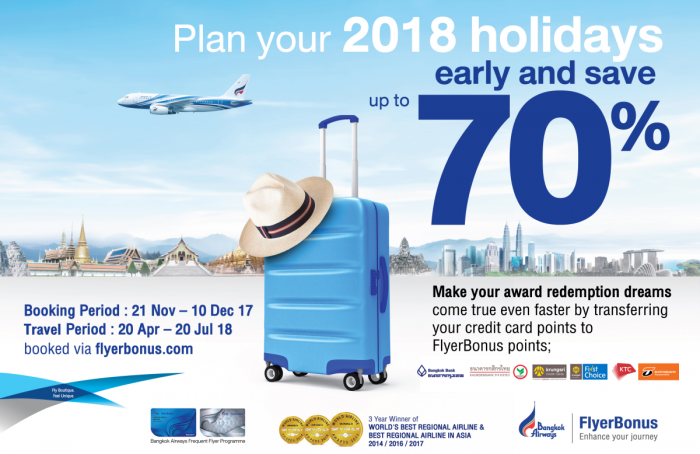 Bangkok Airways FlyerBonus Award Sale