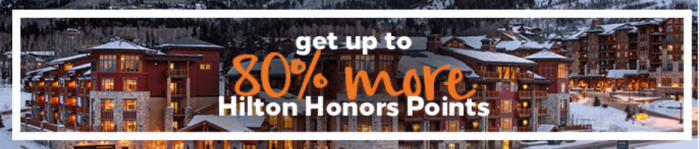 Hilton Honors Buy Points 80 Percent Bonus November 29 - December 29 2017