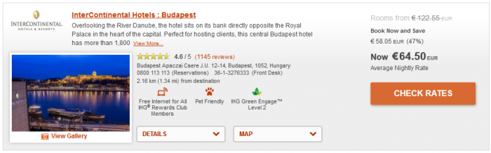 IHG 50 Percent Off Winter Offer Budapest