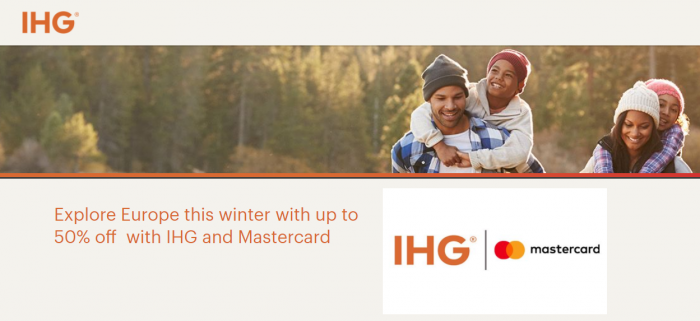 IHG 50 Percent Off Winter Offer Mastercard