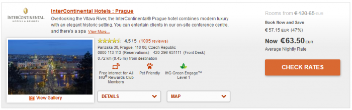 IHG 50 Percent Off Winter Offer Prague