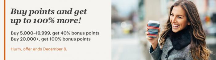 IHG Rewards Club Buy Points 100 Percent Bonus November 2017