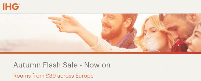 IHG Rewards Club Europe Autumn Flash Sale