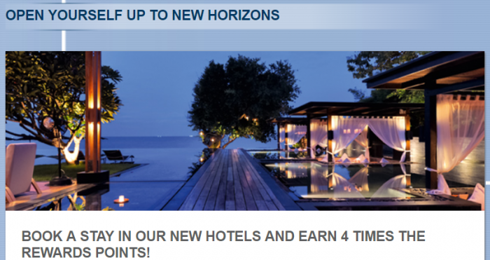 Le Club AccorHotels New Hotels Quadruple Points December 4 - March 4 2018