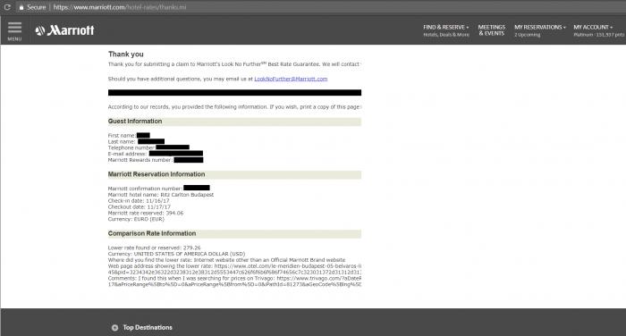 Marriott Look No Further RC Webform