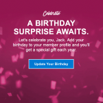 Marriott Rewards A Birthday Surprise Awaits